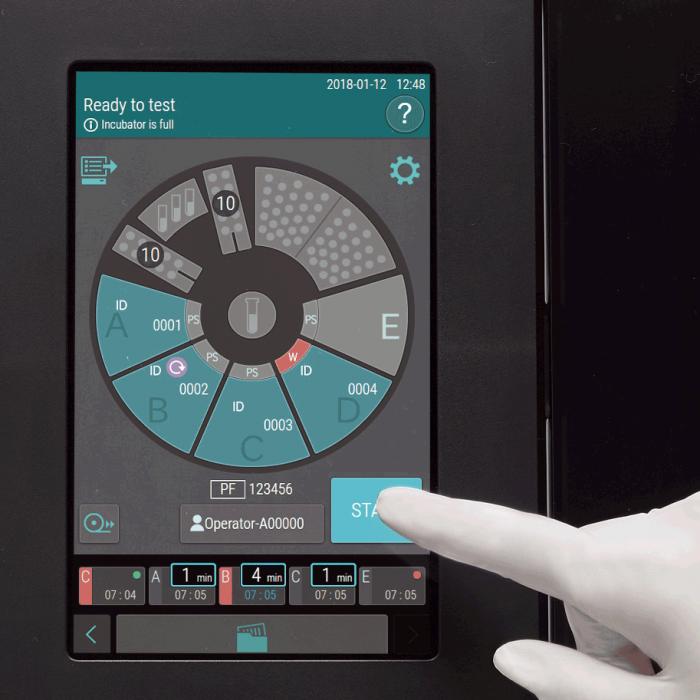 Element DC5X Veterinary Chemistry Analyzer Touch Screen Start