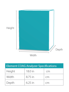 Element COAG Veterinary Analyzer Dimensions