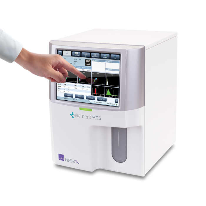 Element HT5 Veterinary Hematology Analyzer Touchscreen