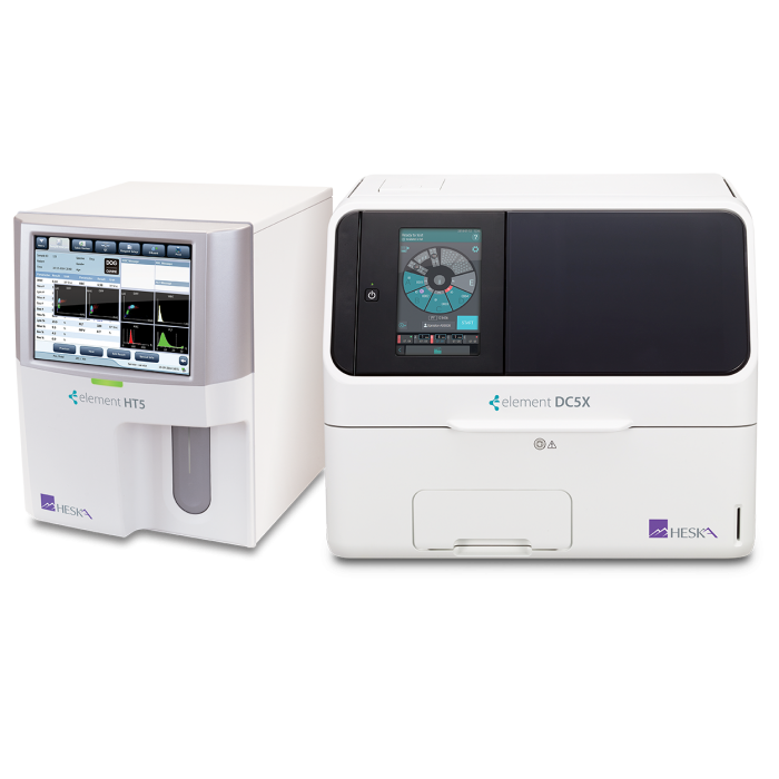 Element HT5 Veterinary Hematology Analyzer and Element DC5X Veterinary Chemistry Analyzer