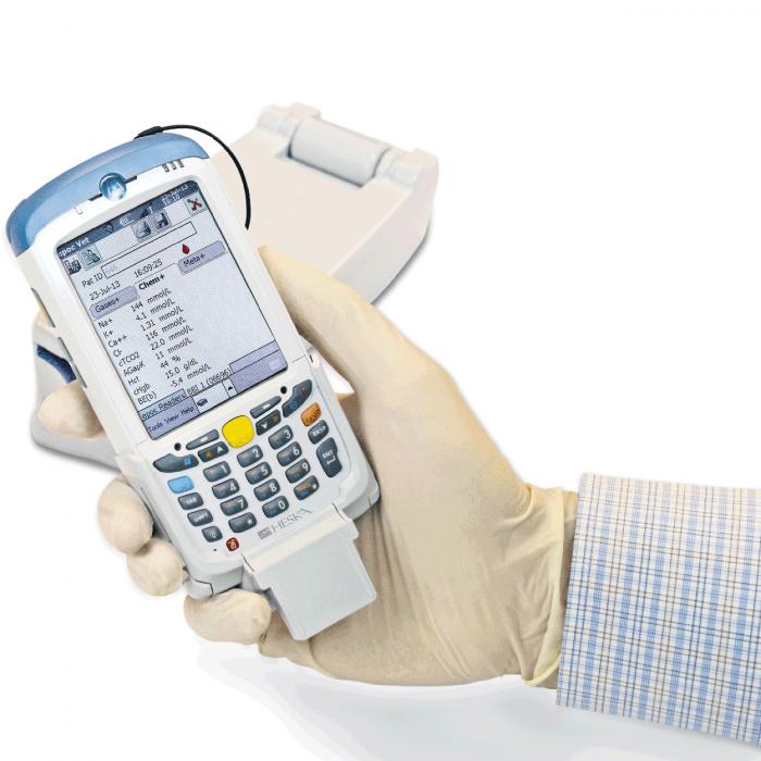 Handheld Element POC Blood Gas & Electrolyte Analyzer Screen