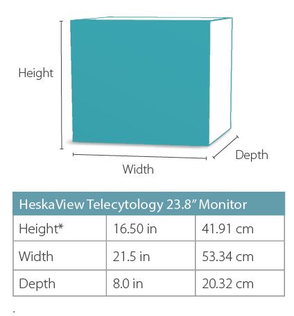 HeskaView Telecytology Monitor Dimensions